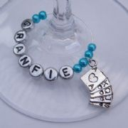 Playing Cards Personalised Wine Glass Charm